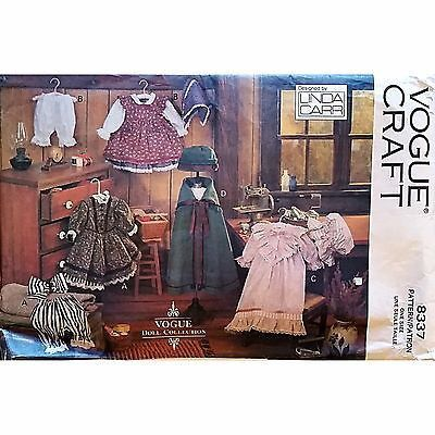Early American Doll Clothes Vogue Craft 8337 Pattern 18 in Dress Nightgown c1436