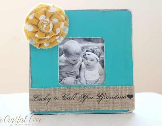Grandma Gift Picture Frame. 'I'm Lucky to Call You Grandma' Personalized Frame from Grandkids Grandchildren