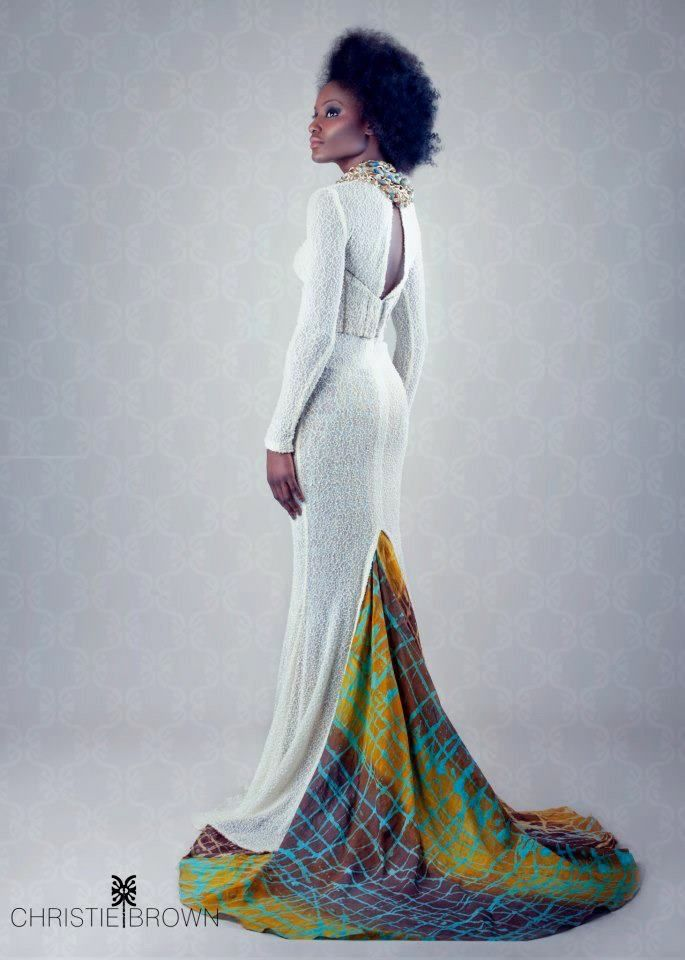 African inspired Wedding Gown