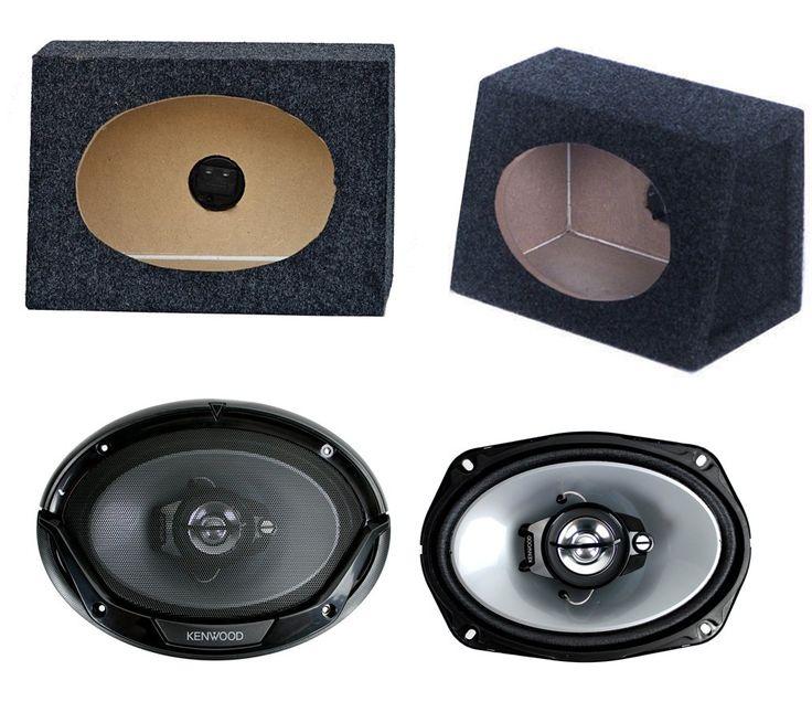 "2) New Kenwood 6x9"" 400W Car Audio Speakers + 2) 6x9"" Speaker Box Enclosures. Max Power: 400W. RMS Power: 45W. Impedance 4 ohms. Woofer: 6 x 9inch PP Cone. Tweeter: 2inch PEI Balanced Dome Tweeter."