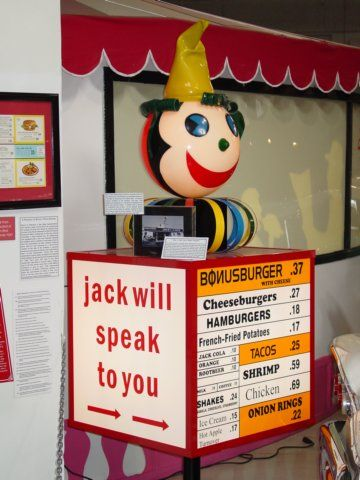 Jack-In-The-Box Menu Speaker.  We used to order through one of these in the 60s!