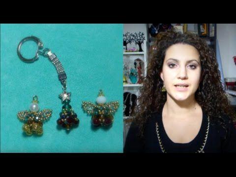 DIY tutoria come fare un angelo di perline e perle per natale new tutorial beadwork Angel Christmas - YouTube