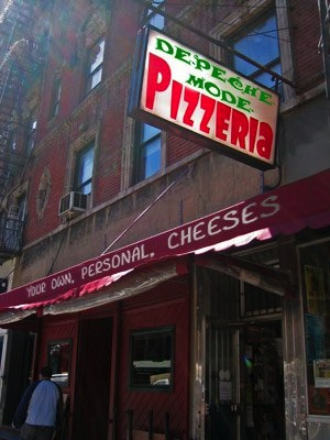 """""""Depeche Mode Pizzeria: Your Own Personal Cheeses""""  BEST PIZZA EVER"""