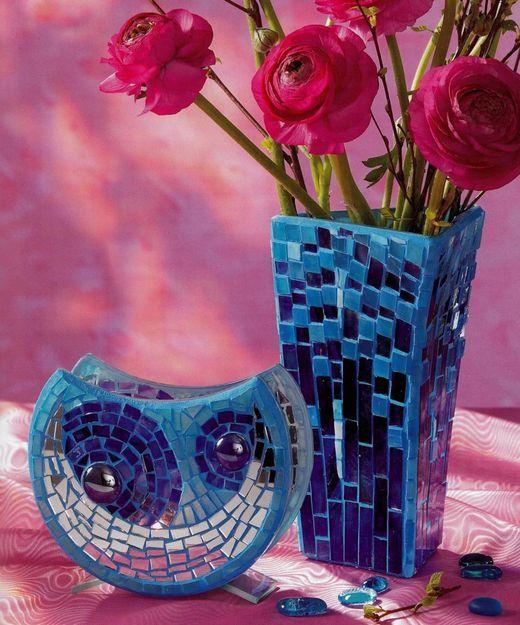 Mozaicuri - Vaze turcoaz