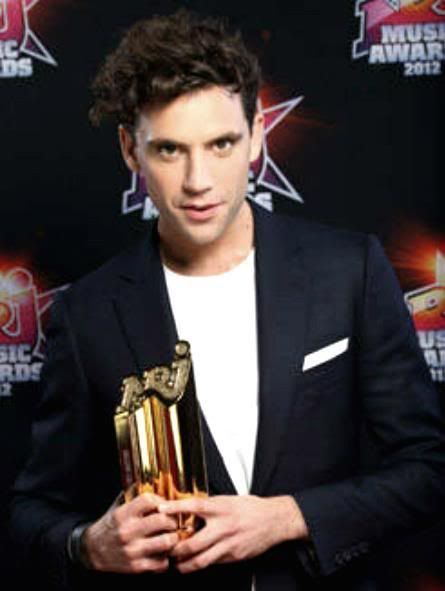 Mika and his NRJ award - Palais des Festivals, January 28, 2012 in Cannes…