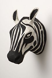 i want this for my little man's room: Stories Bust, Wall Decor, Walldecor, Zebras Head, Savannah Stories, Animal Head, Paper Mache, Baby Rooms, Papier Mache