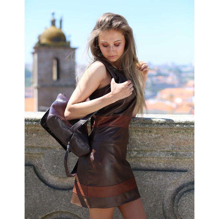 Scabbard Bavaria Dress by deSubito #leather #dress #desubito