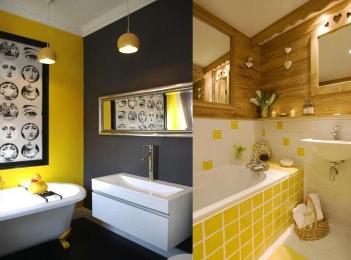 17 best images about gray and yellow bathroom on pinterest for Yellow bathroom ideas pinterest