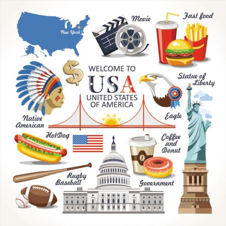 Travel Concept Country Landmark 02 J (Welcome To USA)