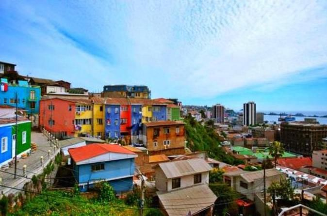 Valparaíso Private Walking Tour Come explore the beautiful UNESCO World Heritage Site of Cerro Alegre and Cerro Concepción. Learn about the history, culture, gastronomy and street art of Valparaíso on this private tour. See the natural amphitheater of hills facing the Pacific Ocean and century old palace.Begin your private walking tour in the historic port district of Valparaiso. See palaces built for the wealthy merchants from Valparaiso's colorful past as one ...