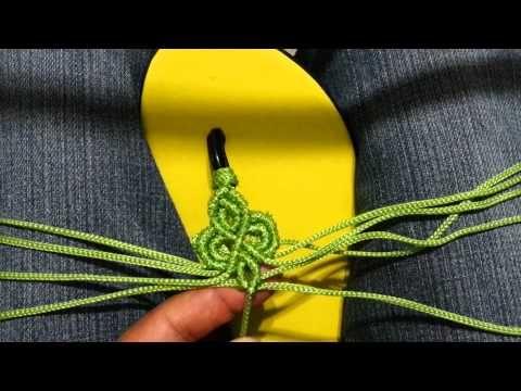 La Reína Mercería Creativa (Sandalias tejidas en macrame con cristal) Primera parte. - YouTube