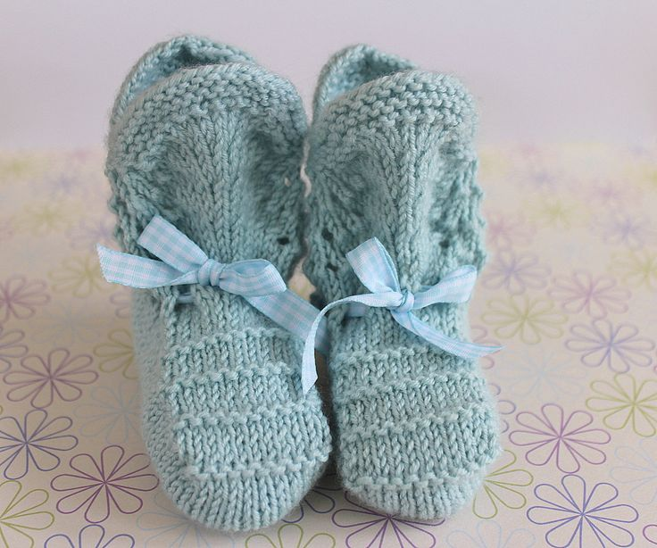 Baby Booties, Traditional Booties, Blue Booties, Luxury Booties, Duck Egg, Cashmere, Wool, Vintage Booties, Hand Knit Booties, Baby Boots, by Pinknitting on Etsy