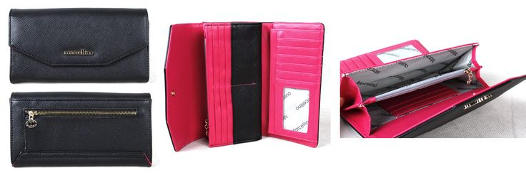 Marcellino Merry Collection - Wallets Simple, classic, graceful. The color contrast is so brave, unexpected.