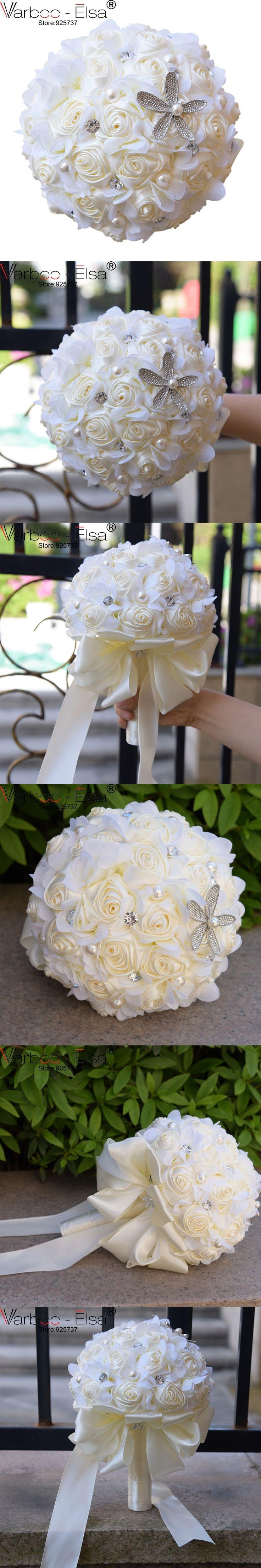 bouquet de fleur mariage new arrvial elegant handmade rhinestone satin crystal wedding bouquets artificial wedding bouquets