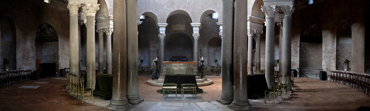 "Mausoleum of Princess Constantina, also called ""Basilica di Santa Costanza"", beside Sant'Agnese fuori le Mura. by Oliver-Bonjoch - Oliver-Bonjoch. Licensed under CC BY-SA 3.0 via Wikimedia Commons -"