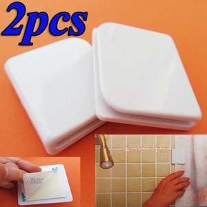 2x Bathroom Bath Anti Splash Spill Shower Curtain Stop
