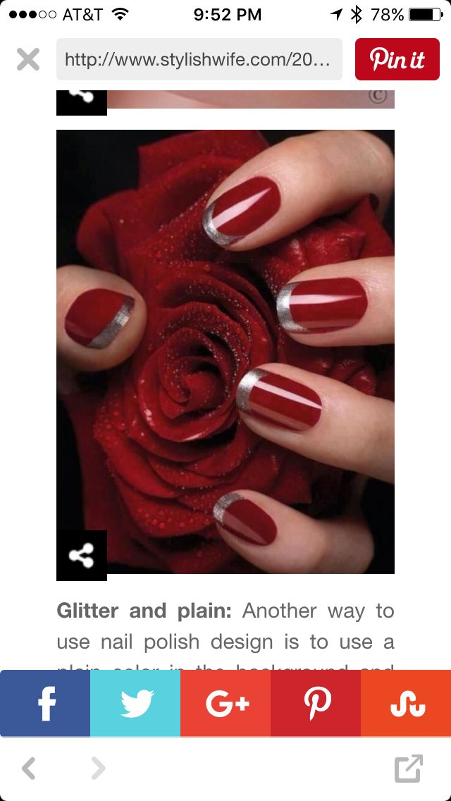 7 best New Year's Nails images on Pinterest | Fingernail ...