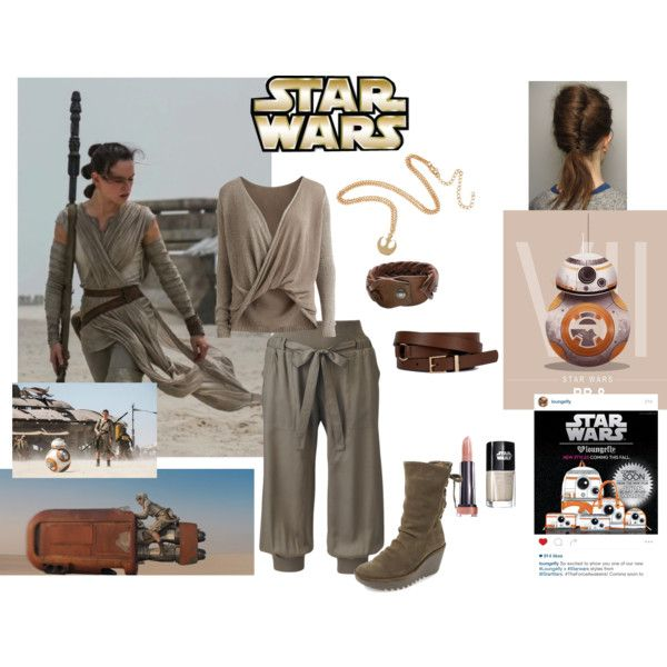Star Wars the force awakens- Rey by misstiffiniemae on Polyvore featuring polyvore, fashion, style, Object Collectors Item, Fly LONDON, HTC and Episode