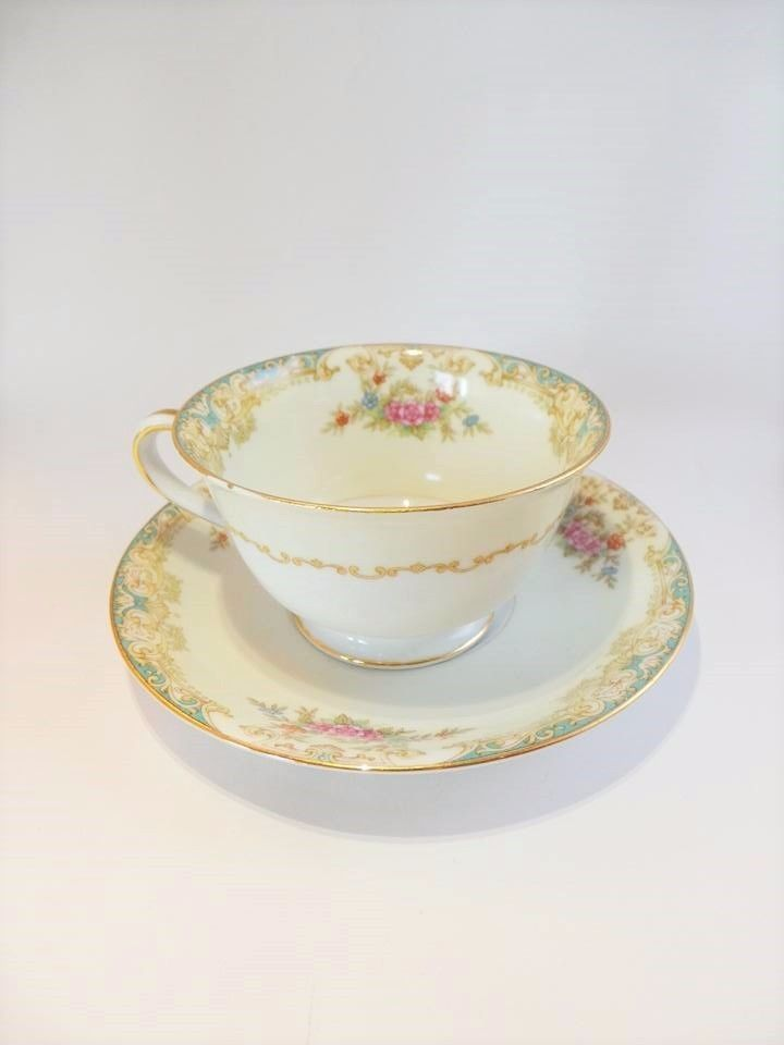 Noritake Occupied Japan Mystery Pattern Cup And Saucer Set