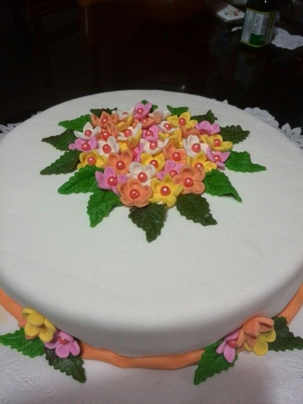 Torta con florecitas