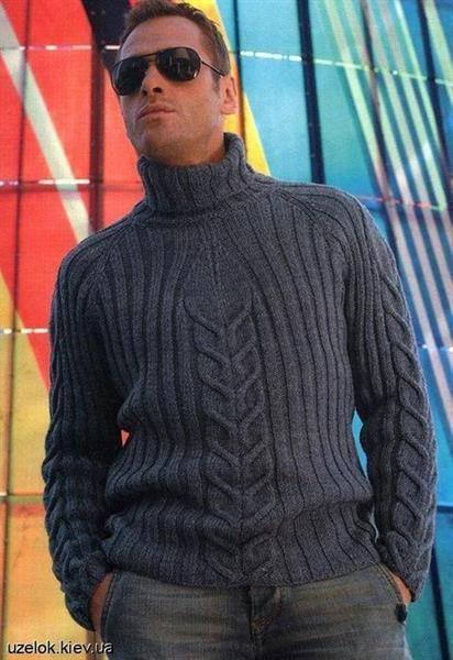 Вязание мужские свитера на спицах