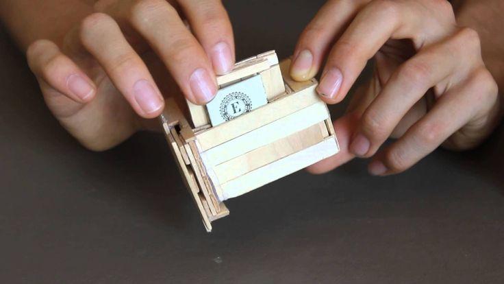 Popsicle Stick Puzzle Box With Secret Compartments