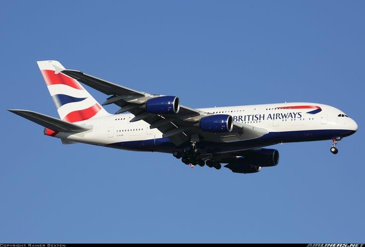 Airbus A380-841, British Airways, G-XLEB, cn 121, 369 passengers, first flight 4.2.2013, British Airways delivered 19.9.2013. 29.5.2016 flight London - Johannesburg. Foto: Johannesburg, South Africa, 20.2.2016.