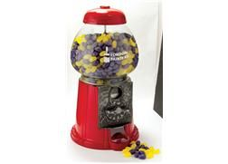 """Jelly Bell Machine - This 11"""", solid antique case aluminum jelly bean dispenser is a great way to grab attention in your lobby or reception area. Fill with your choice of Jelly Belly gourmet jelly beans and imprint the bowl with your logo."""