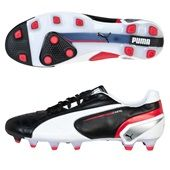Puma King Football Boots - Black/White/Ribbon Red. Available from Kitbag.com