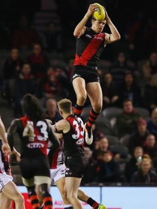 Essendon forward Joe Daniher takes highest mark of all time. | Herald Sun