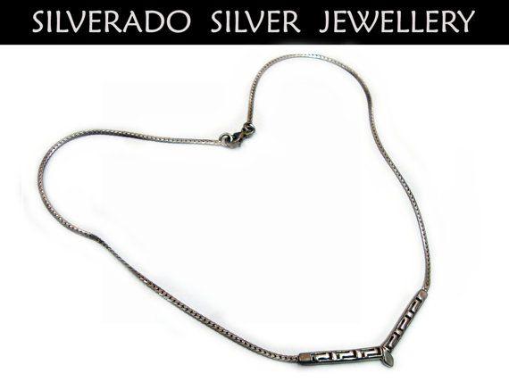 Greek Eternity Key Chain with Pendant by SilveradoJewellery, €23.00