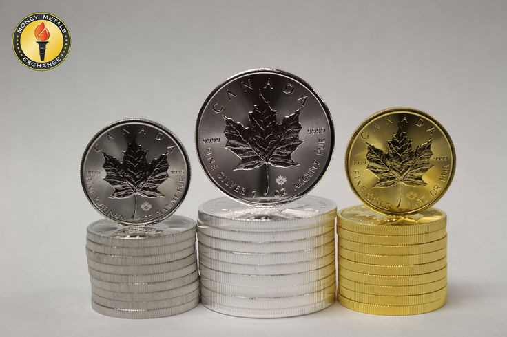 The 1 ounce Canadian Maple in platinum silver and gold!! #gold #silver #moneymetals
