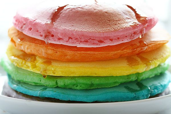 Tips on how to make the Perfect Rainbow Pancakes! #pancakes #rainbow