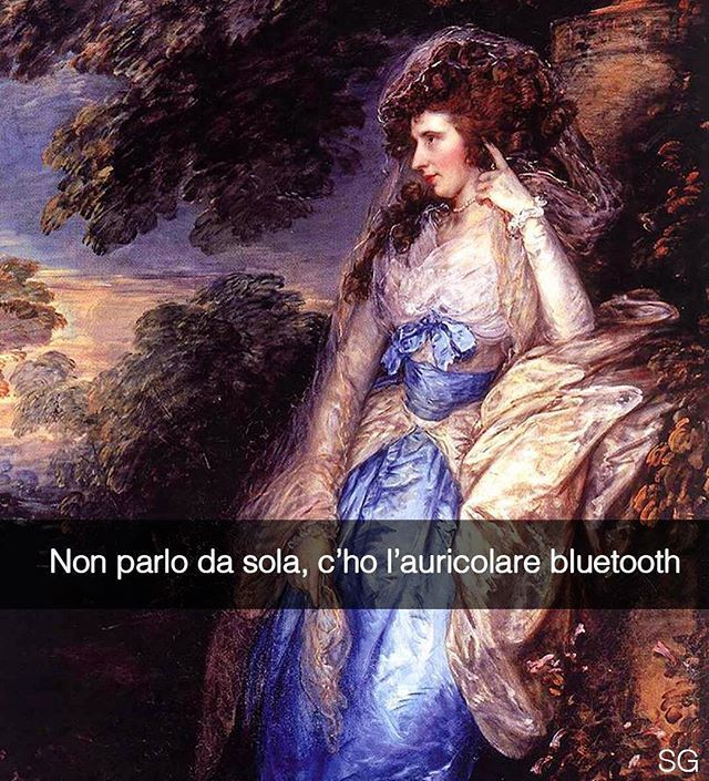 Snapchat: stefanoguerrera   Lady Bate-Dudley - Thomas Gainsborough (1787)  #seiquadripotesseroparlare  #stefanoguerrera
