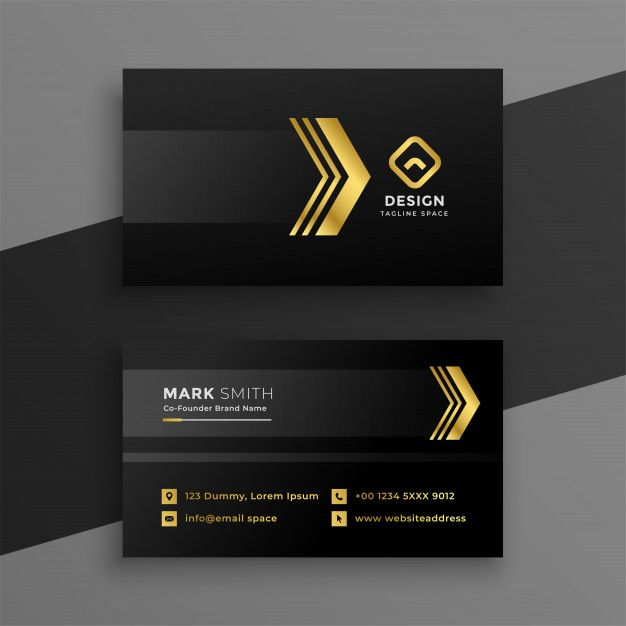 Download Luxury Dark Business Card Design For Free Business Card Logo Design Free Business Card Design Business Card Design Black