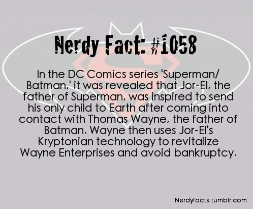Nerdy Facts #1058: Superman/Batman The level of nerd is staggerring.