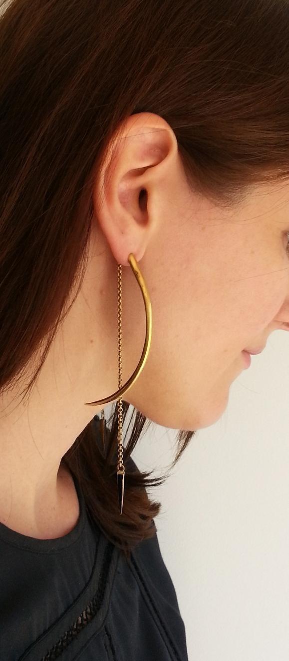 Seba horn earrings from silkstonewood