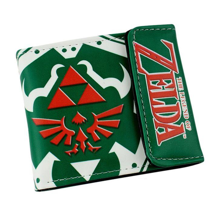 Zelda The Legend of Zelda link Skyward Sword Twilight Princess PU short wallet Type A