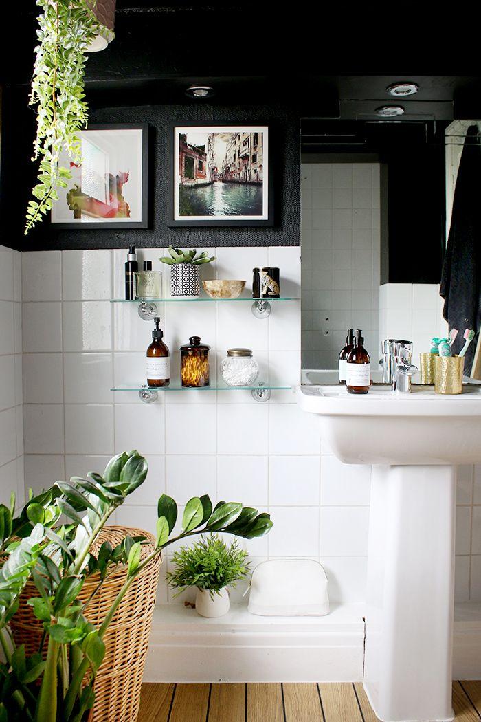 My Boho Glam Black Bathroom Budget Refresh Bathroom Diy Bathroom