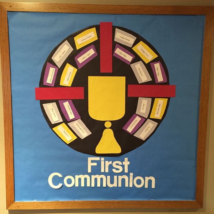 17 best images about church bulletin board on pinterest for First communion craft ideas