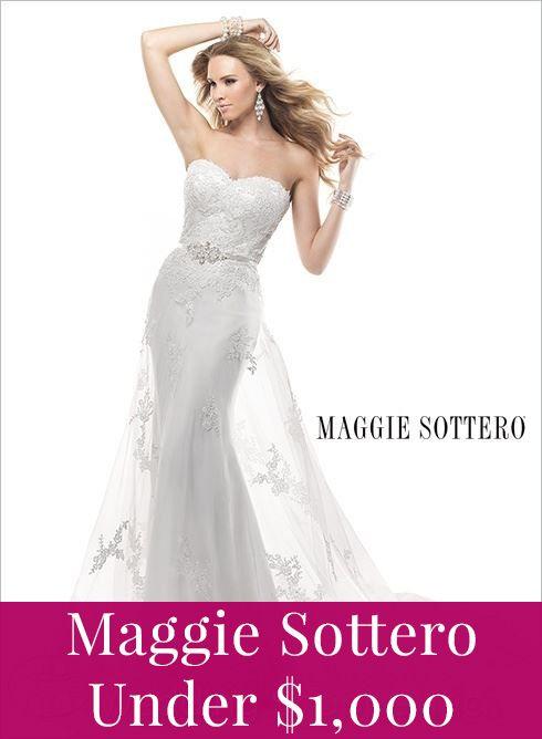 Maggie Sottero under 1,000!