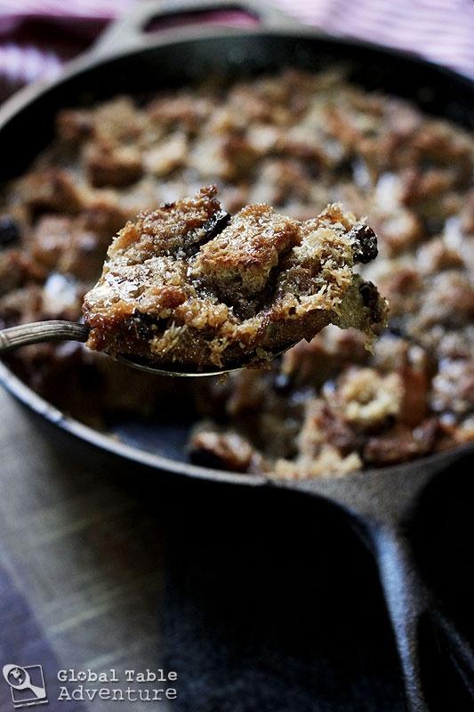 Rum Glazed Coconut Bread Pudding | Recipe