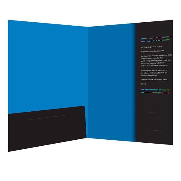 A Corporate Presentation Folder Design for BevShots LLC.
