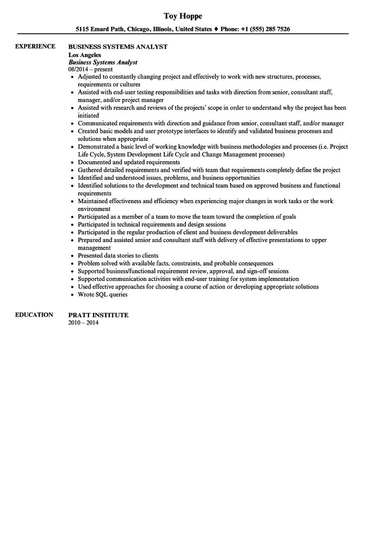 Business analyst resume writing services
