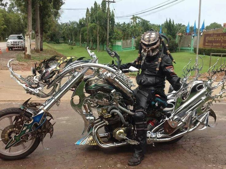 Bike and Rider by Predator Helmet custom bike