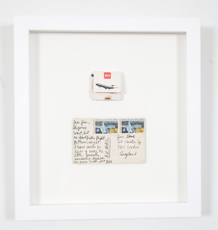 Postcard and book bookmatches Jim Dine art & ephemera from 54 items from 60 Chester Square