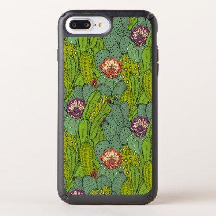 #Cactus Flower Pattern Speck iPhone 7 Plus Case - #flower gifts floral flowers diy