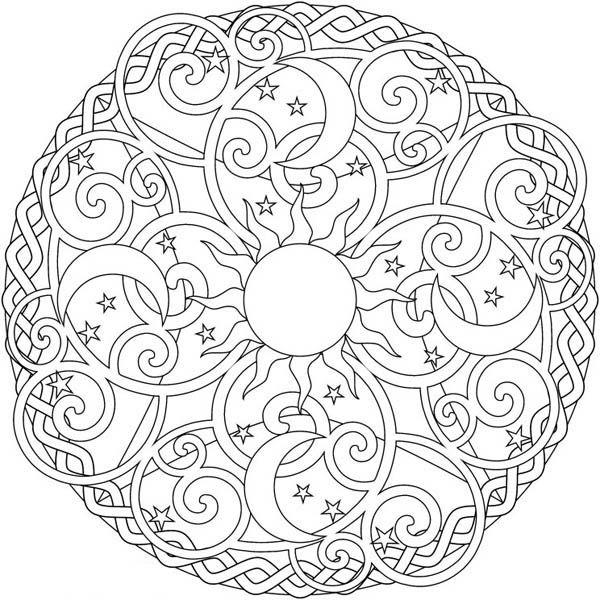 fire mandalas coloring pages   20 best Mandala References images on Pinterest   Mandalas ...
