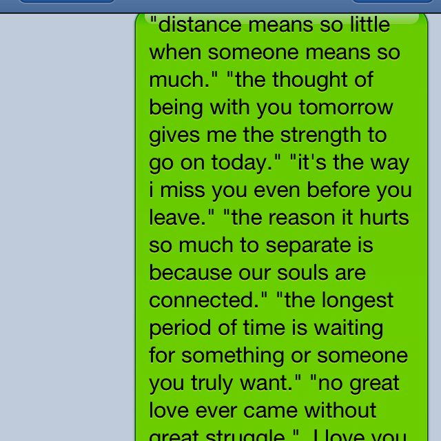 Cute Love Distance Quotes