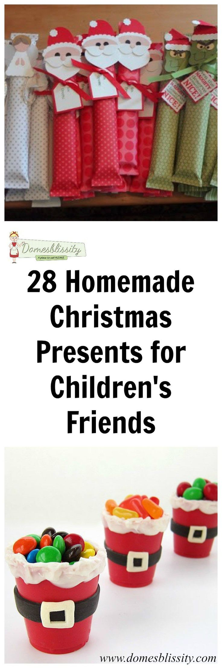Last week I shared with you 21 homemade Christmas presents to make for teachers and I gather you've already made them, like me (*cough, cough*). Here is some inspiration for you and the kids to make for their school friends, Scout and Guide friends, team mates etc. My children usually get given a candy …